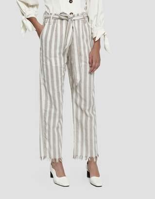 Farrow Melisa Raw Hem Striped Pants