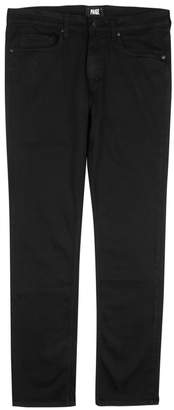 Paige Federal Black Transcend Straight-leg Jeans