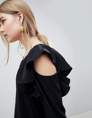Selected Kassia Cold Shoulder Blouse