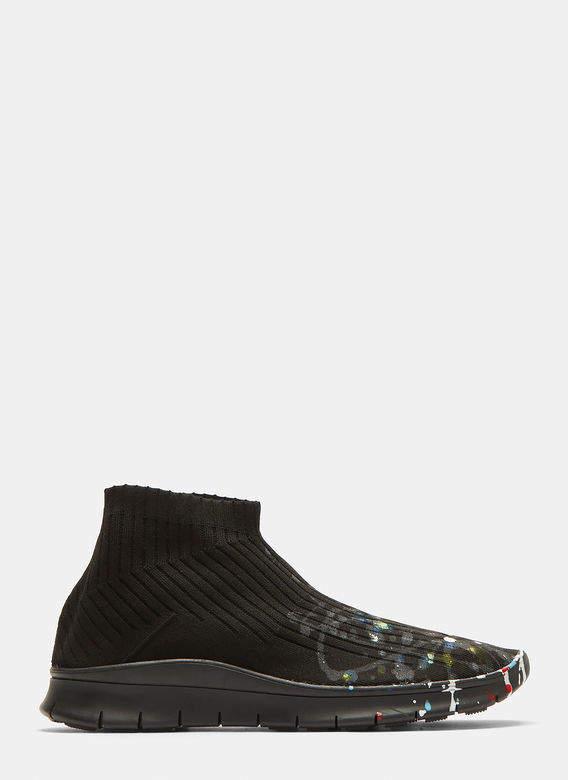 Sock Painter Mid-Top Sneakers in Black