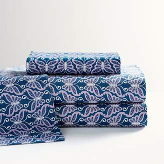 Pottery Barn Teen Anna Sui Butterfly Amour Sateen Sheet Set, Full, Multi