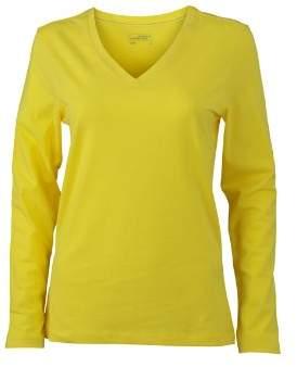 James & Nicholson Women's Langarmshirt Ladies Stretch V Shirt Long Sleeve Maternity T (Pink), (Size: )
