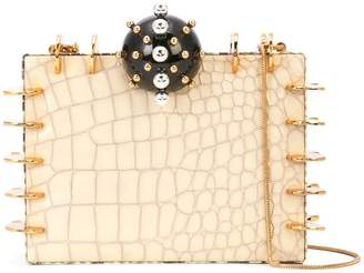 Tonya Hawkes embellished box clutch