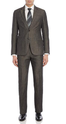 Armani Collezioni Two-Piece Brown Dongle Suit