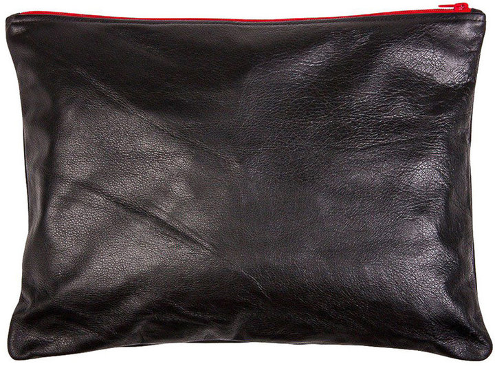 American Apparel Large Leather Carry-All Pouch