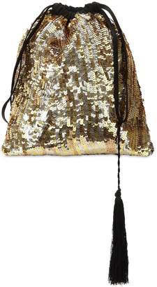 ATTICO Gold Sequined Pouch