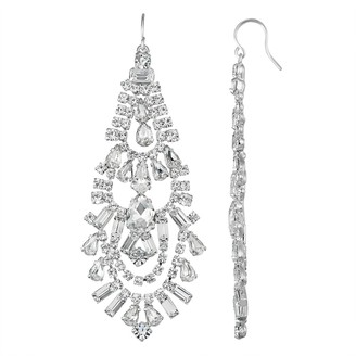 Unbranded Simulated Crystal Scallop Chandelier Nickel Free Earring