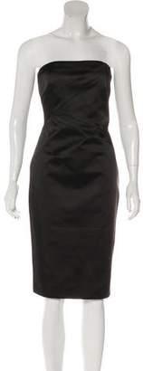 Michael Kors Satin Strapless Dress w/ Tags