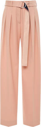 Victoria Beckham Victoria Front Pleat Belted Pant