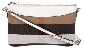 Burberry House Check Leather-Trimmed Crossbody Bag