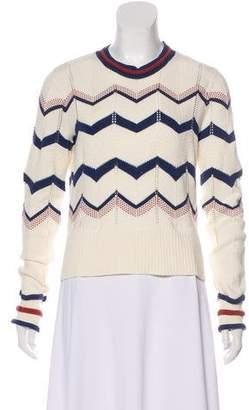 Veronica Beard Patterned Long Sleeve Sweater