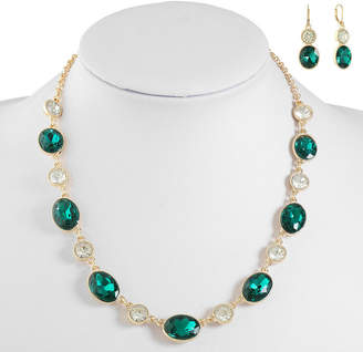 MONET JEWELRY Monet Jewelry Green Gold Tone Jewelry Set