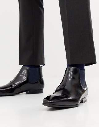 Ted Baker Lameth chelsea boots in black high shine