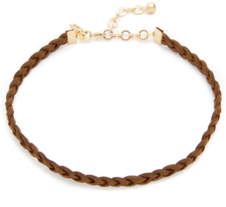 Vanessa Mooney Braided Suede Choker Necklace $28 thestylecure.com