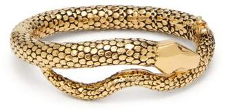 Aurelie Bidermann Gold Plated Tao Snake Bracelet - Womens - Gold
