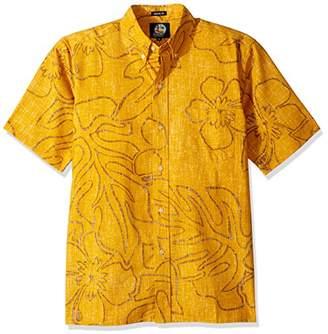 Reyn Spooner Men's Monstera Ink Spooner Kloth Classic Fit Hawaiian Shirt