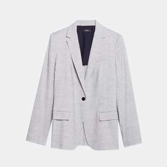 Textured Good Linen Staple Blazer