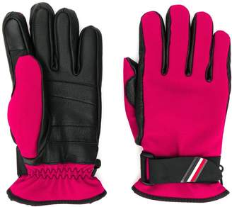 Moncler leather panel gloves