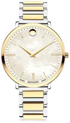 Movado Ultra Slim Yellow Goldtone Stainless Steel Bracelet Watch