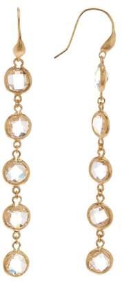 Rivka Friedman 18K Gold Clad Rock Crystal Drop Earrings