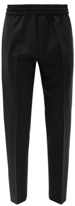 Acne Studios Elasticated Waist Wool Blend Trousers - Mens - Black