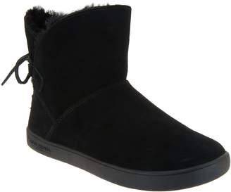 Koolaburra By Ugg by UGG Suede Tie Back Mini Boots - Shazi
