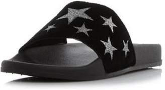 Dorothy Perkins Womens *Head Over Heels by Dune Black 'Linders' Flat Sandals