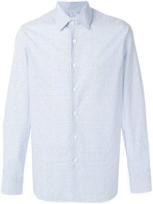 Prada micro star burst print shirt