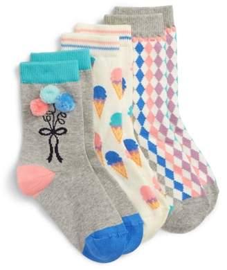 Tucker + Tate 3-Pack Pastel Pattern Crew Socks