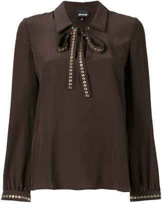 Just Cavalli bow tie blouse