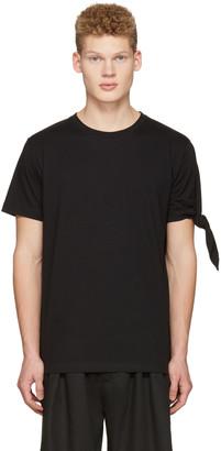 J.W. Anderson Black Single Knot T-Shirt $150 thestylecure.com