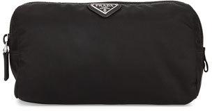 pradaPrada Medium Nylon Triangle Cosmetic Bag, Black (Nero)