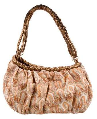 Missoni Leather-Trimmed Knit Handle Bag