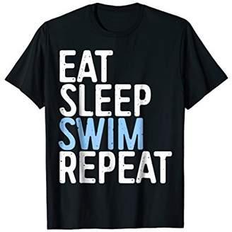 Eat Sleep Swim Repeat T-Shirt Funny Swimmer Gift Shirt