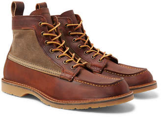 Red Wing Shoes Wacouta Leather and Waxed-Cotton Boots - Men - Brown