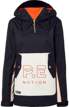 P.E Nation Dc Skyline Hooded Printed Ski Jacket - Black