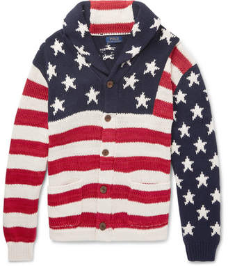 Polo Ralph Lauren Intarsia Cotton, Linen, Silk And Cashmere-Blend Cardigan