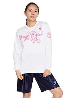 Converse (コンバース) - [コンバース] バスケットボールウェア 機能プリントロングスリーブTシャツ CB382304L [レディース] ホワイト/ピンク 日本 O (日本サイズ2L相当)