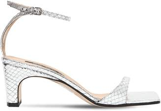Sergio Rossi 60mm Python Embossed Leather Sandals