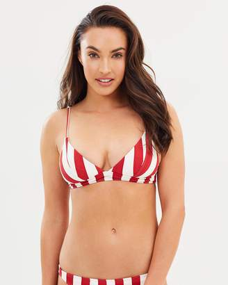 Billabong Sunset Stripe Tri Stripe Bikini Top