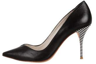 Sophia Webster Leather Pointed-Toe Pumps