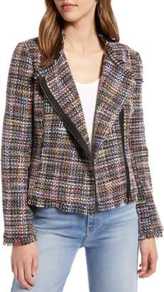 Halogen Tweed Moto Jacket
