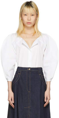 Nina Ricci White Button Down Blouse