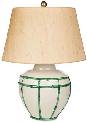 One Kings Lane Bradburn Home For Bamboo Table Lamp - Green/Tan
