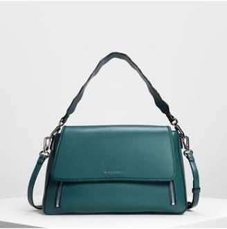 LOCONDO ジップディテール フロントフラップバッグ / Zip Detail Front Flap Bag (Teal)
