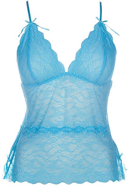 Turquoise Lace Ingrid Camisole - Women