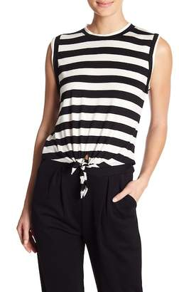 CAD Tie Front Muscle Tank Top