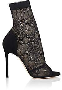 Gianvito Rossi Women's Missy Lace & Suede Ankle Boots-Black