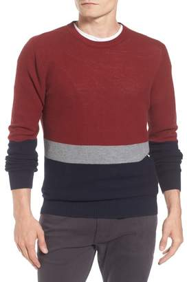 Ben Sherman Textured Colorblock Sweater