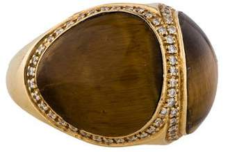 Di Modolo Tiger's Eye and Diamond Ring